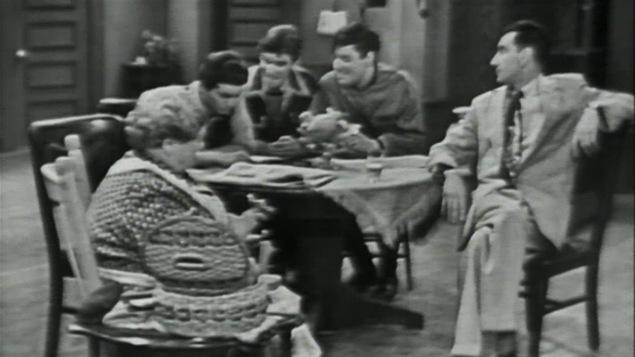 Une scène du télé-théâtre <i>Chambre à louer</i> de Marcel Dubé
