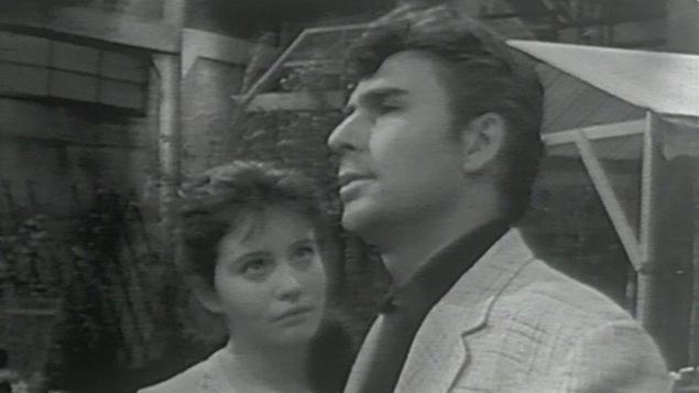 Une scène du télé-théâtre <i>Le temps des lilas</i> de Marcel Dubé en 1962
