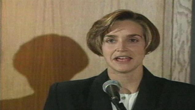 Sylvie Fréchette en conférence de presse
