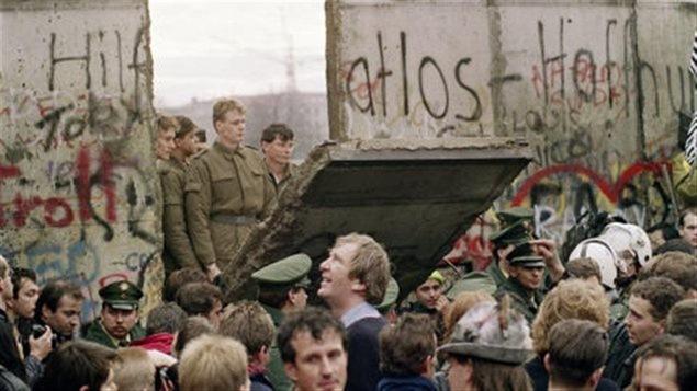 La chute du mur de Berlin en 1989
