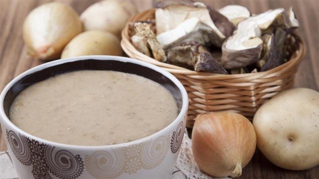 Un potage aux champignons