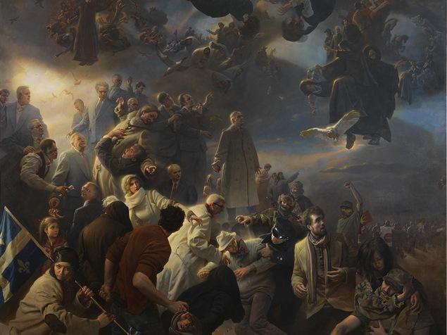 La fresque «Quebec», du peintre américain Adam Miller
