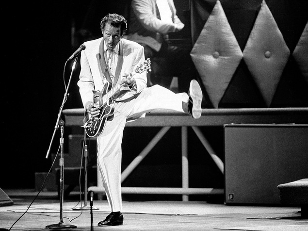 Chuck Berry, en 1986