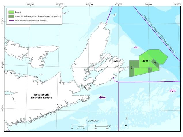 La Zone protégée marine du Banc de Sainte-Anne, au large du Cap-Breton.