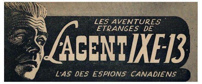 La page couverture d'un roman d'espionnage IXE-13.