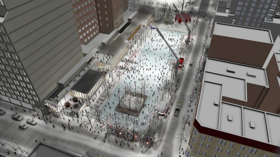 L'aménagement de l'esplanade Clark vient compléter une série de réalisations des dernières années pour le pôle Place des Arts.