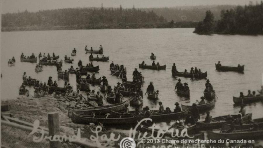 Arrivée des Algonquins au Grand lac Victoria, 1907