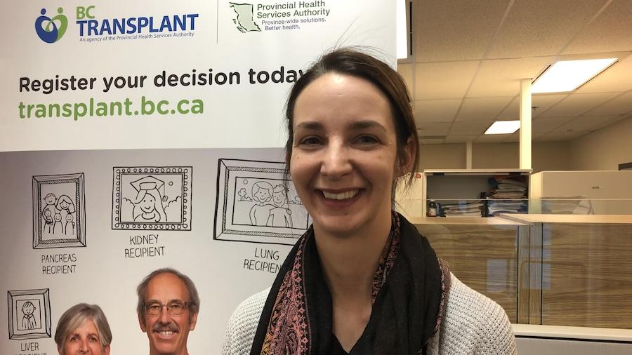 Geneviève Fortin, coordonnatrice des dons d'organe à BC Transplant
