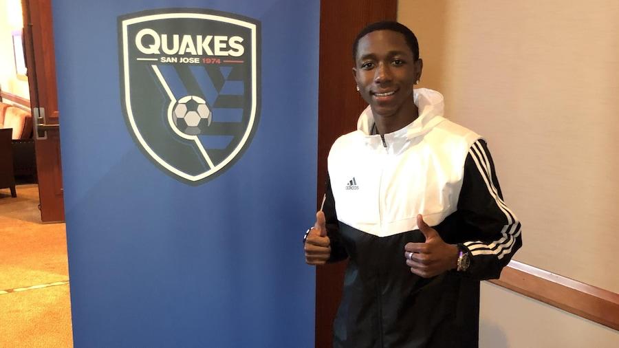 Mamadi Camara, joueur de soccer  repêché par les Earthquakes de San Jose