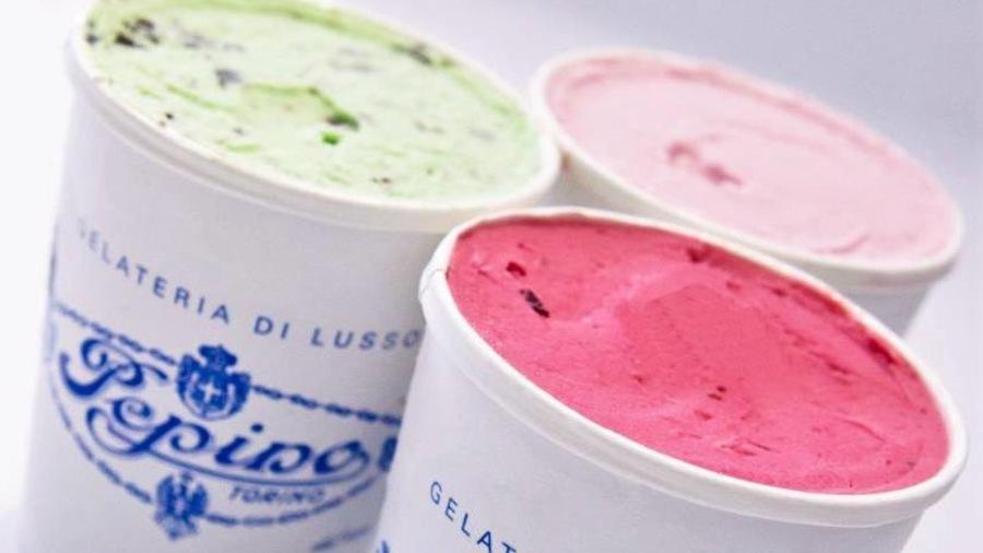 Des gelatos de la Gelateria Pepino, à Turin, en Italie.