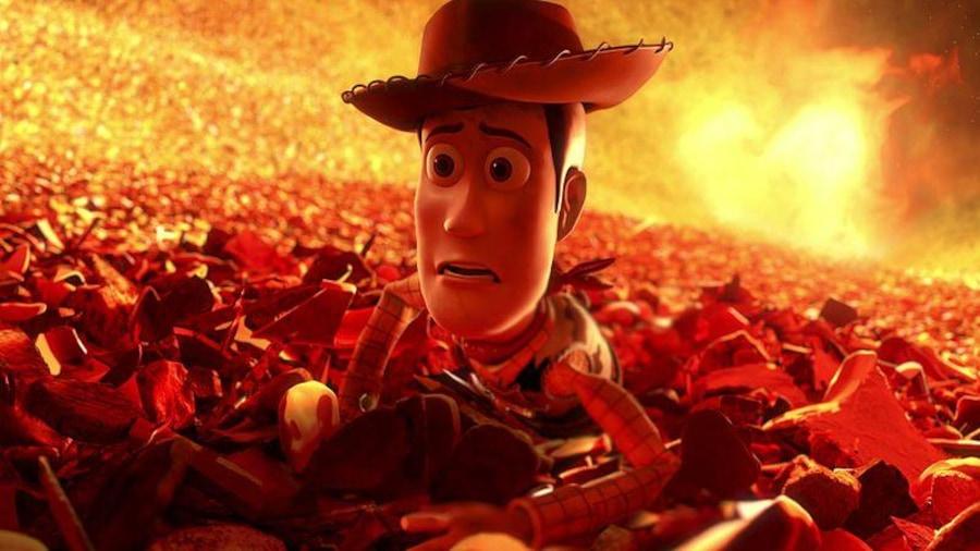 Le cowboy au-dessus d'un incinérateur