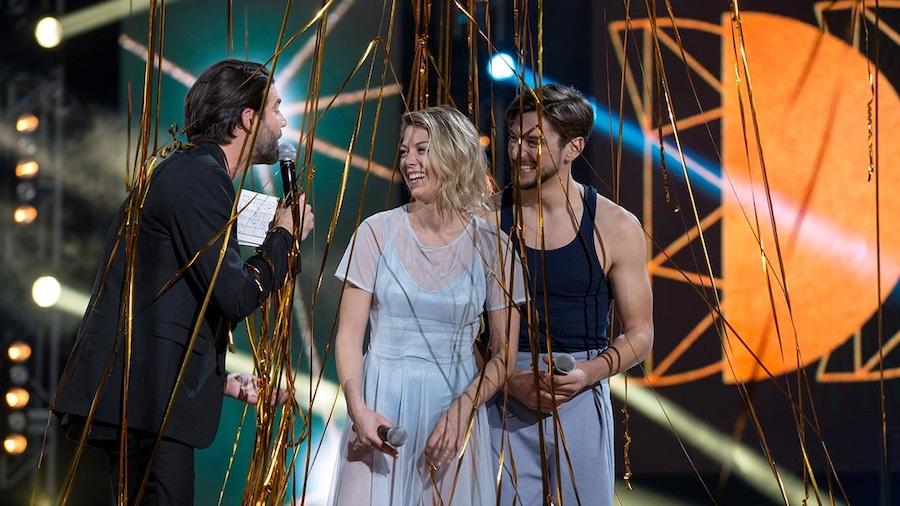 Catherine Saint-Laurent et Gabriel Lemire, couronnés grands gagnants aux Dieux de la danse.