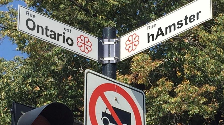 Affiche de nom de rue