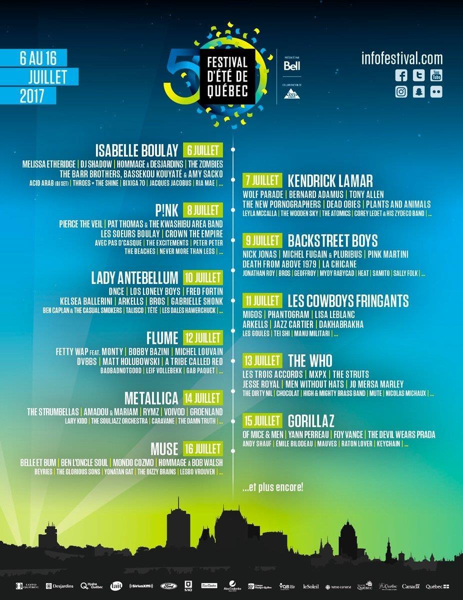 L'affiche du Festival d'été de Québec