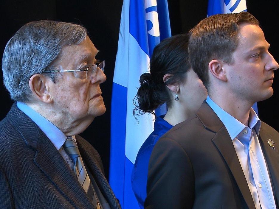 Le cofondateur de la défunte Action démocratique du Québec, Jean Allaire, était présent pour l'occasion.