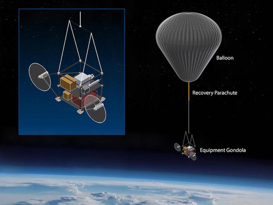 Illustration du projet SCoPEx, un ballon envoyé dans l'atmosphère par l'Université Harvard.