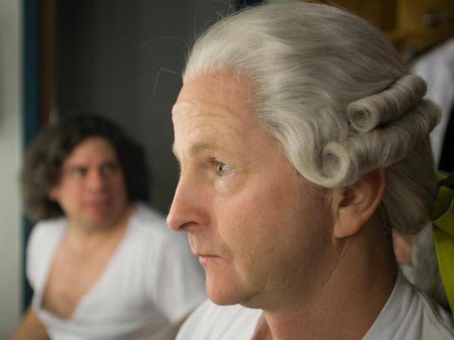 Le comédien en coulisses, dans son rôle de Mozart pour Edgar et ses fantômes