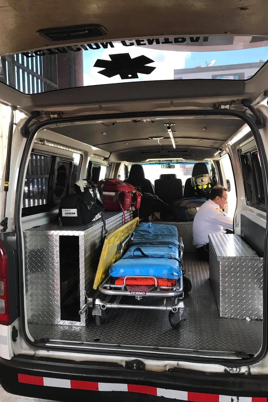 L'intérieur d'une ambulance