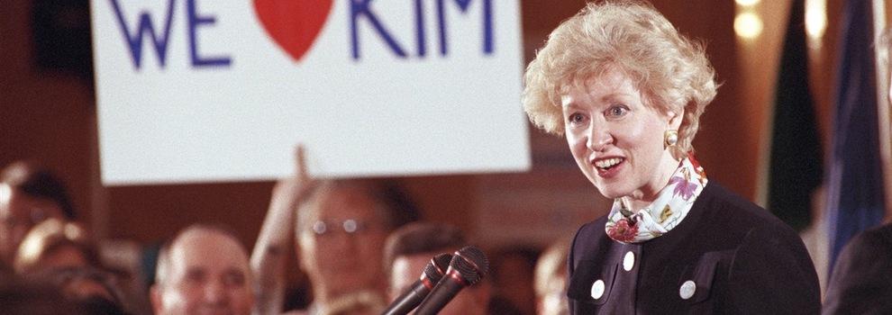 Kim Campbell, la première femme première ministre du Canada