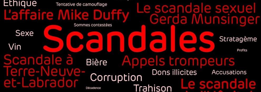 Nos pires scandales politiques